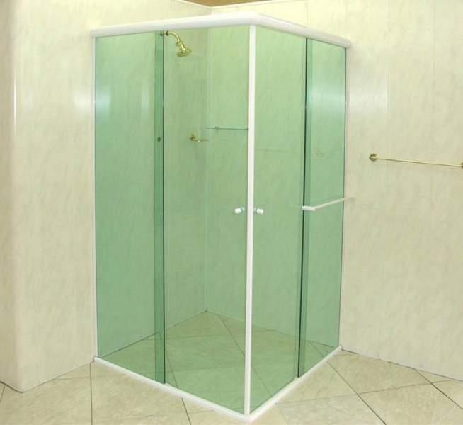 box de banheiro de canto